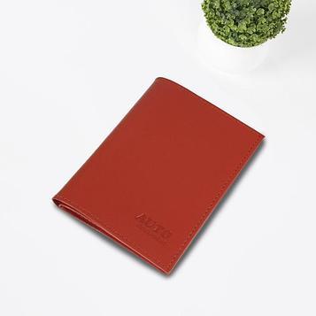 Обложки для документов без застёжки, натуральная кожа, цвет красный