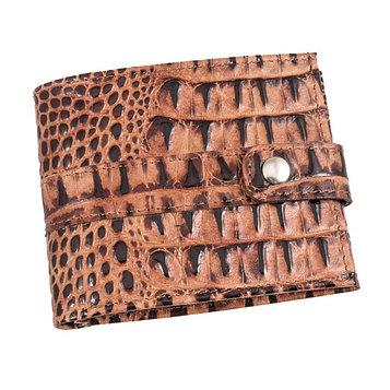Кошелёк, натуральная кожа, цвет коричневый кайман