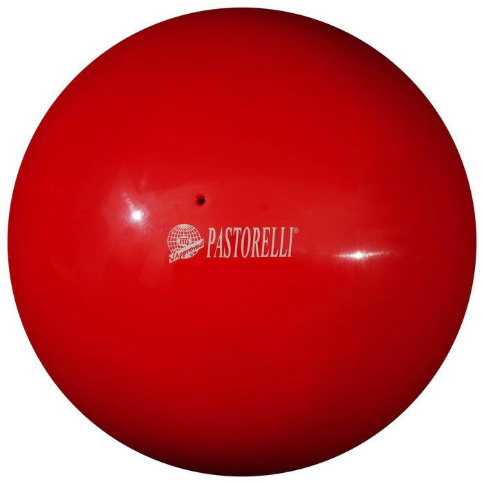 Мяч гимнастический Pastorelli New Generation, 18 см, FIG, цвет красный