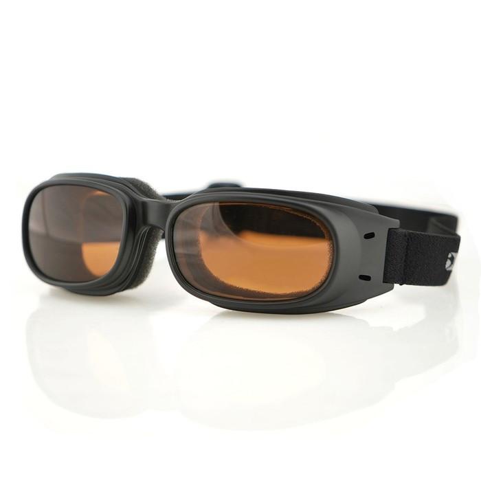 Очки Piston чёрные с янтарными линзами