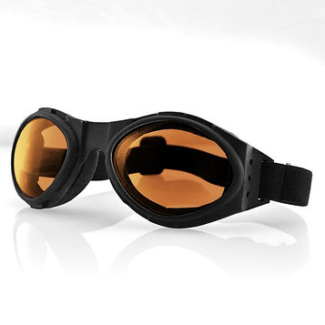 Очки Bugeye чёрные с янтарными линзами