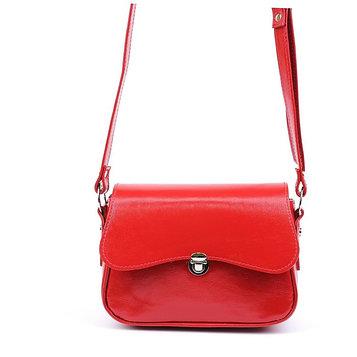 Сумка женская, наружный карман, 1 отдел, плечевой ремень, красный наплак