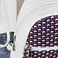 Рюкзак молодёжный, отдел на молнии, 2 наружных кармана, цвет белый, фото 3