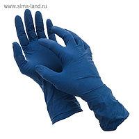 Перчатки латексные неопудренные A.D.M, размер L, 50 шт/уп, 28 гр, цвет синий