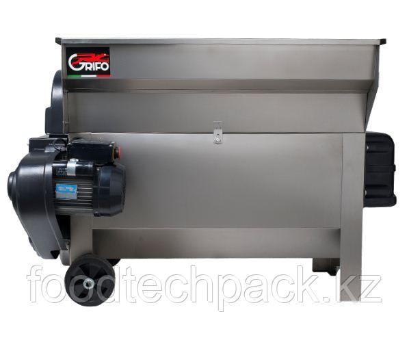 Электрический гребнеотделитель для винограда c насосом Q.20 из нержавеющей стали.