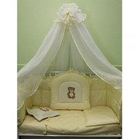 Комплект в кроватку БАЛУ ПЛЮШКИН желт(кремовый) балд. 4,5м борт 4-х сторон, 8 предметов