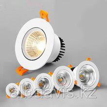 Встраиваемые светодиодные светильники от 3 до 45 ватт. Цена от 500 до 30 000 тг. Цвет свечения: от 2800-6500 К