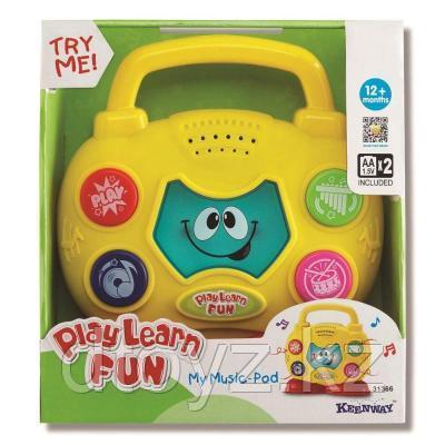Keenway Интерактивная игрушка Музыкальный бумбокс 31366