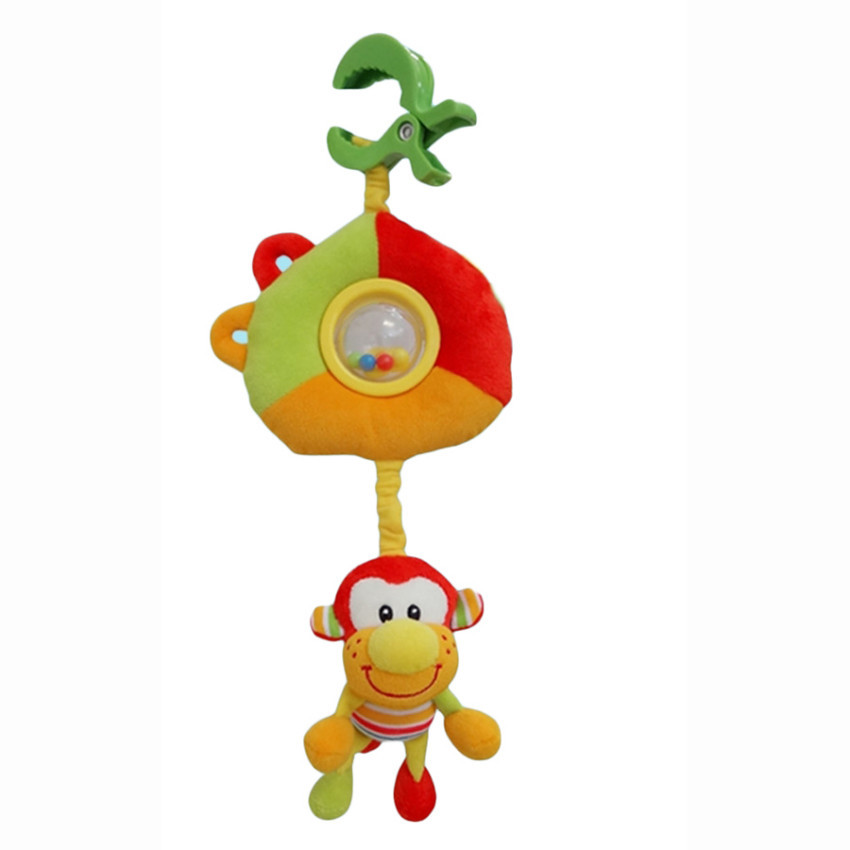 Развивающая игрушка I-BABY подвеска ОБЕЗЬЯНКИ на клипсе 30*30см ( в кор. по 48 шт.)