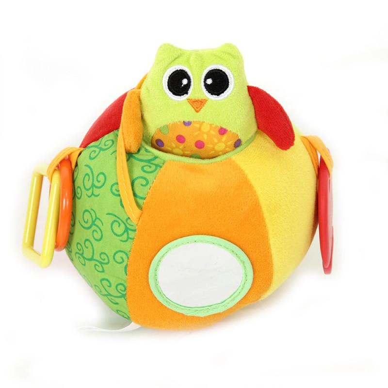 Развивающая игрушка I-BABY СОВА на мяче 17см ( в кор. по 24 шт.)