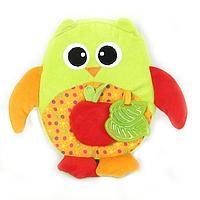 Развивающая игрушка I-BABY СОВА с яблоком 22 см ( в кор. по 48 шт.)