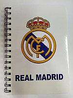 Блокнот А5 на вертикальном гребне Real Madrid