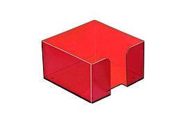 Пластбокс для блока бумаги для записи 9х9х5, темно-красная вишня СТАММ