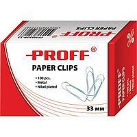 Скрепки канцелярские 50 мм. в картонной упаковке, никелированные