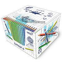 Блок бумаги для записи 8х8х5, белый, 65 гр. непроклееный, ассорти, в картон. подставке