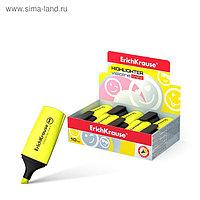 Маркер текстовыделитель 0.6-5.2 мм Erich Krause Visioline Mini, желтый, флуоресцентные чернила на водной