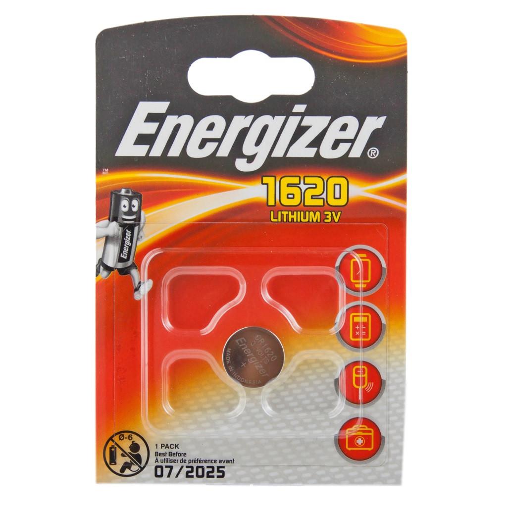 Элемент питания Energizer CR1620 -1 штука в блистере.