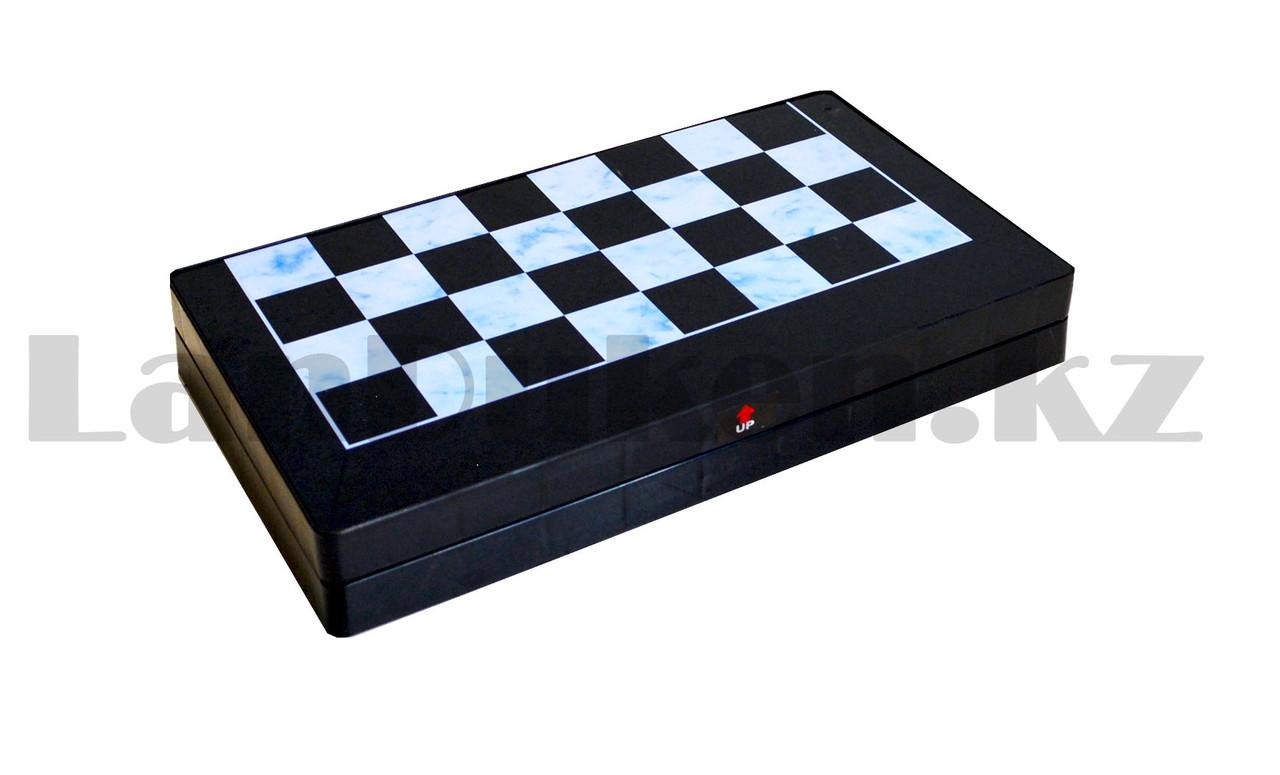 Шахматы, шашки, нарды 3 в 1 мраморный Gurng Ying 8899 35,5х31,5 см - фото 3