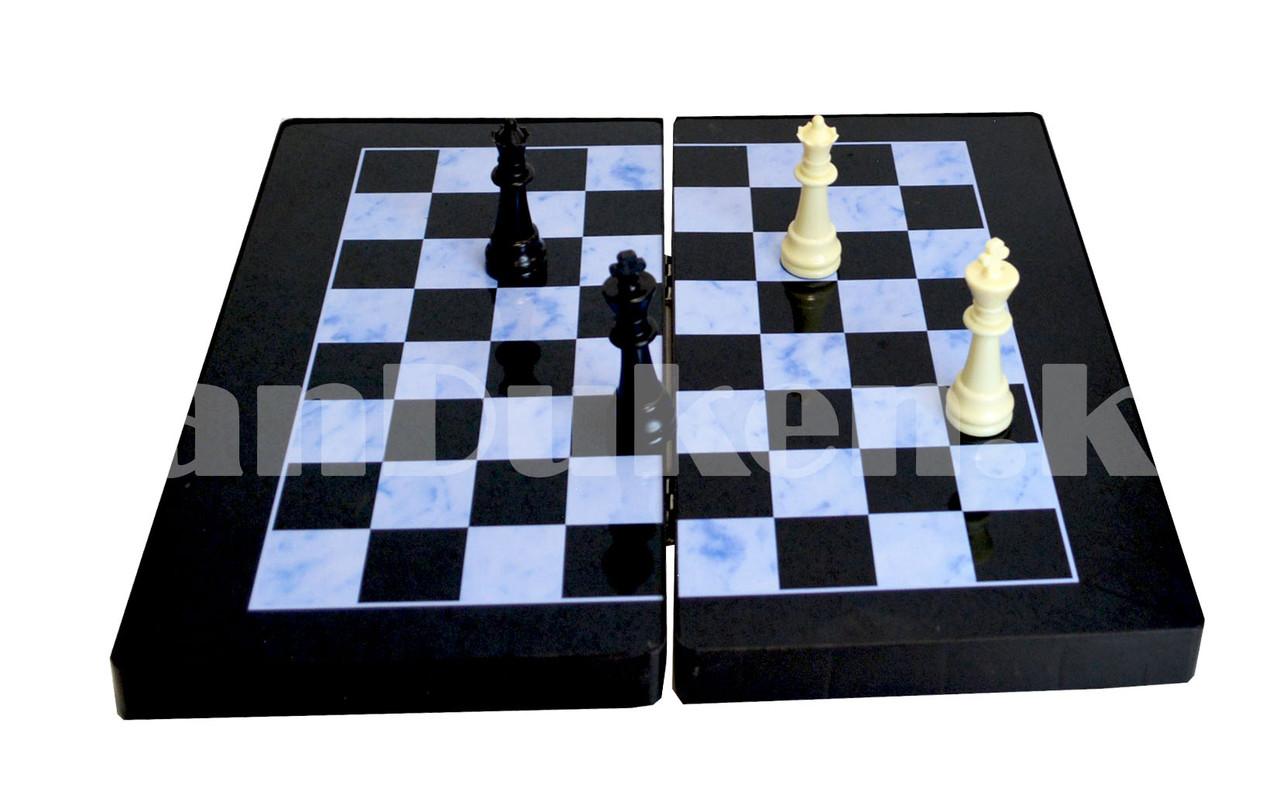 Шахматы, шашки, нарды 3 в 1 мраморный Gurng Ying 8899 35,5х31,5 см - фото 7