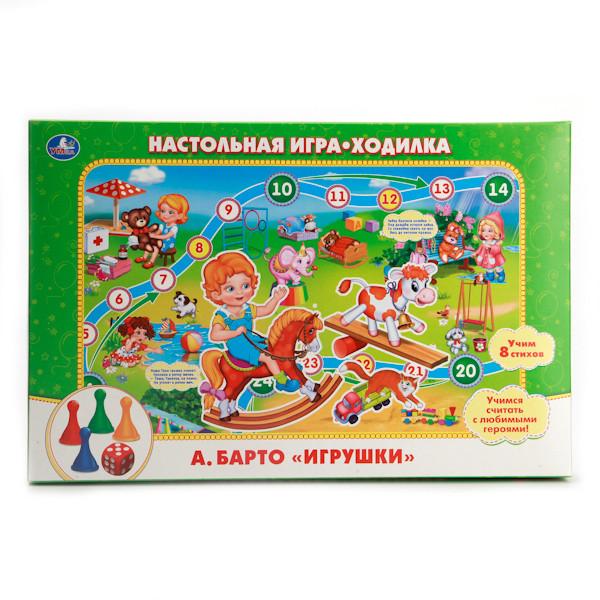 """Настольная игра - ходилка """"Умные игры"""" Игрушки, А. Барто"""