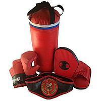 Набор боксерский Чемпион (мешок 40 см, перчатки, лапы, пояс чемпиона)