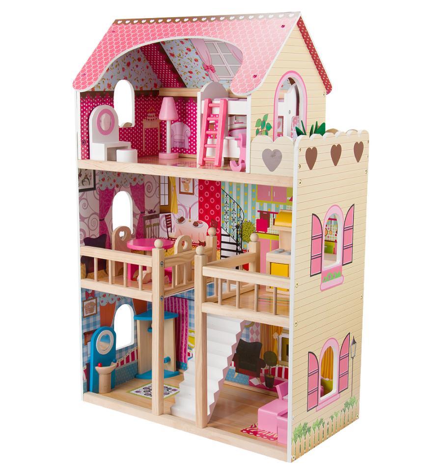 Домик для кукол с комплектом мебели EduFun EF4109 (90см)