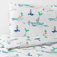 РЁДХАКЕ Комплект постельного белья, 3 предм, плывущий мышонок, 60x120 см, фото 1