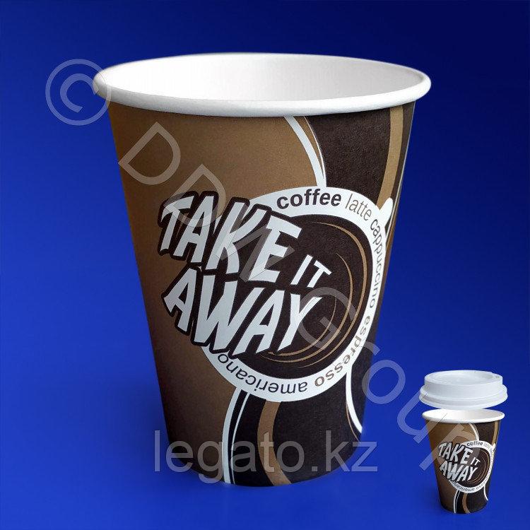 Стакан бумажн.для гор.напитков 250мл., Coffe take away 400шт/кор DW 2-х слойный Лига-Пак
