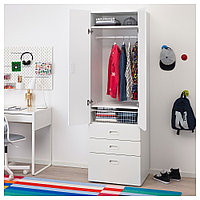 СТУВА / ФРИТИДС Шкаф платяной, белый, белый, 60x50x192 см, фото 1
