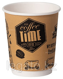 "Стакан бумажный для горячих напитков ""COFFEE TIME"" 250 мл 50шт/уп 1000 шт/кор"