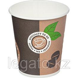 """Стакан бумажный для горячих напитков """"Coffee To Go"""" 250 мл 50шт/уп 1000 шт/кор"""