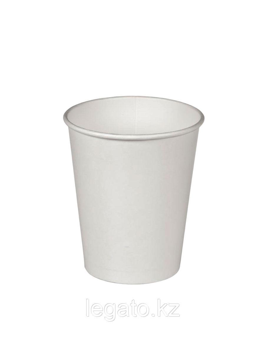 """Стакан бумажный для горячих напитков """"Белый """" 250 мл 50шт/уп 1000 шт/кор"""