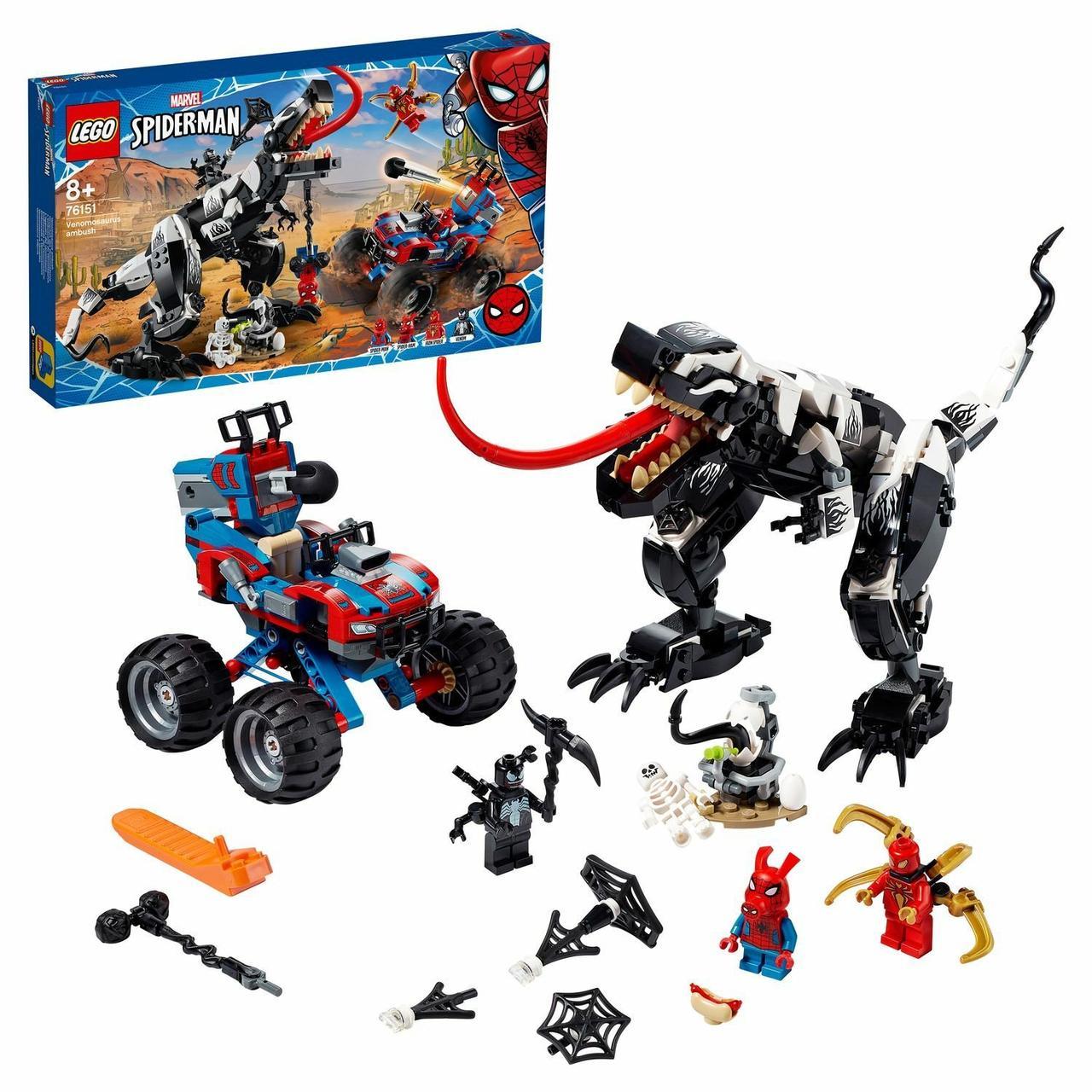 Конструктор LEGO: Человек-Паук: Засада на веномозавра