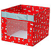 АНГЕЛЭГЕН Коробка, красный, 38x42x33 см
