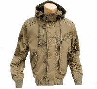 Куртка лётная с капюшоном демисезонная L