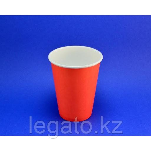"""Стакан бумажный для горячих напитков """"Красный """" 350 мл 50шт/уп 1000 шт/кор"""