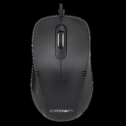 Мышь проводная CMM-501 Black Бесшумная мышь, фото 2