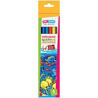 Карандаши пластиковые, Подводный мир, 6 цветов.  ArtSpace