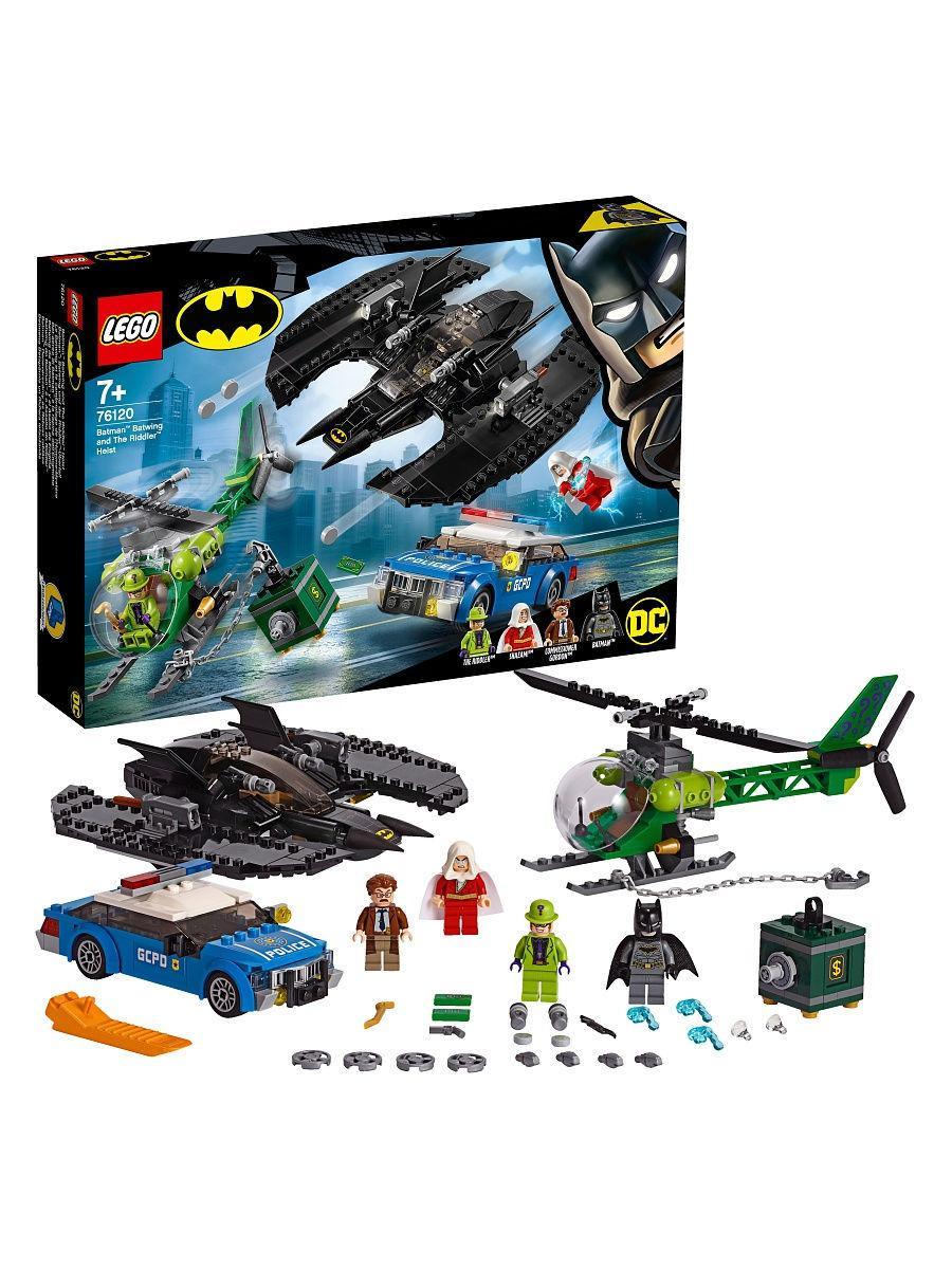 Конструктор LEGO DC Super Heroes Бэткрыло Бэтмена и ограбление Загадочника