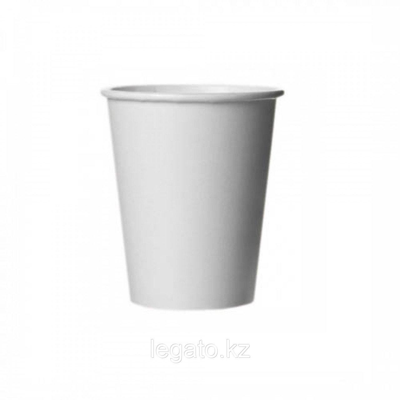Стакан бумажный для горячих напитков 350 мл белый 1000 шт/кор