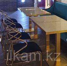 Стол из нержавейки,универсальный, столешница  под мрамор, фото 3