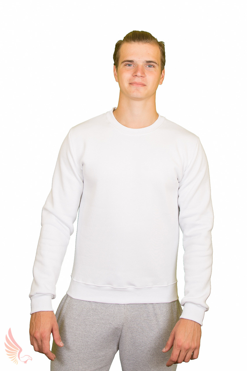 "Свитшот ФУТЕР, 50(L) ""Unisex"" цвет: белый"