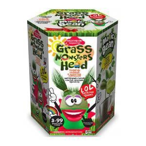 """Набор креативного творчества """"GRASS MONSTERS HEAD Волшебный боб зелёный горшочек"""" (8)"""
