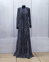 Платье шифон с леопардовым принтом