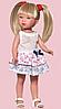 Карлота в плюшевым платье с рисунком, 28 см (Vestida de Azul, Испания)