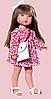 Карлота в красном цветочном платье с сумкой, 28 см (Vestida de Azul, Испания)