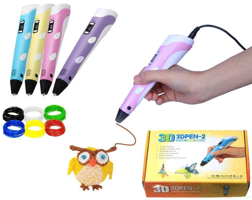 3D ручка 3DPEN-2 цвет в ассортименте - фото 1