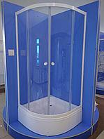 Душевое ограждение Классик 1/4 круга 900*900*2050 сред.под.300мм (стекло прозрачное)