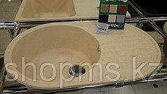GranFest-QUARZ (ECO-18) Мойка чаш+кр. 740*480 арт. GF-Z-18 (бежевый)