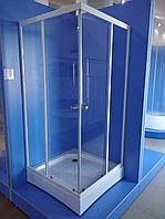 Душевая ширма для поддона МЕТАКАМ Квадрат 890 стекло прозр.
